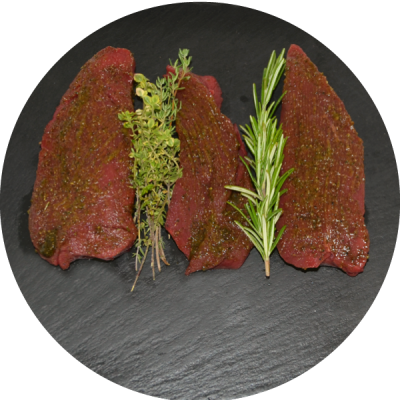 Steak vom Hirsch | 300g mariniert